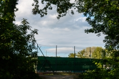 Blick auf die Tennisplätze