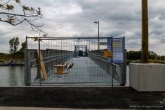 Kuchelauer Pontonbrücke Errichtung