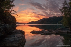 "Nr. 22: ""Showdown Fuschl"", Sonnenuntergang in Fuschl am See, 29. Juli 2019. 20:58h"