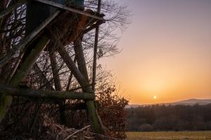Hintersdorf Sonnenuntergang