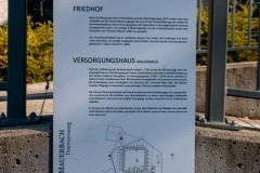 Schild Versorgungshaus Friedhof Mauerbach