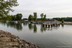 Blick auf die Brückenpfeiler, Kuchelau