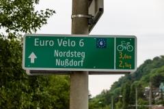 Der Euro Velo 6 führt hier durch