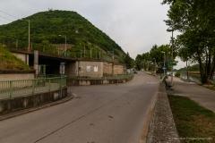Vorarbeiten für Fuß- und Radwegbrücke in der Kuchelau