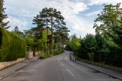 Die Straße nach Klosterneuburg rauf
