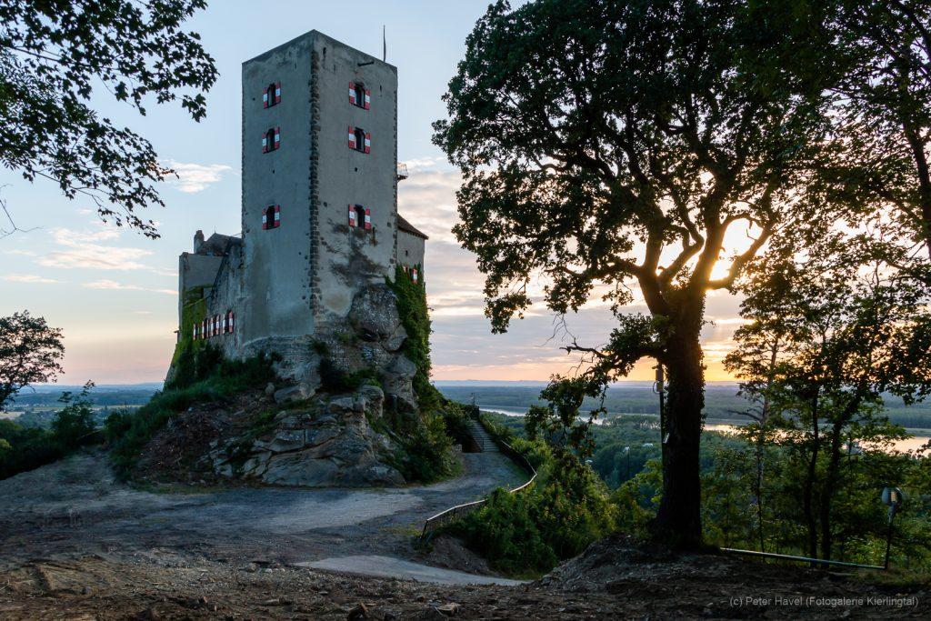 Burg Greifenstein Sonnenuntergang