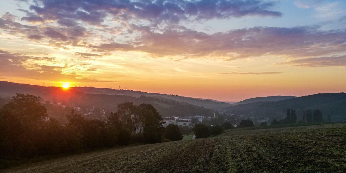Sonnenaufgang Kierlingtal